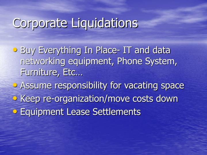Corporate Liquidations
