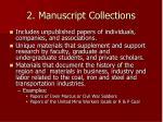 2 manuscript collections