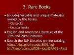 3 rare books