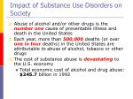 impact of substance use disorders on society