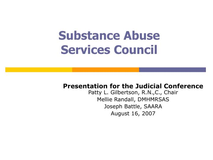 substance abuse services council n.