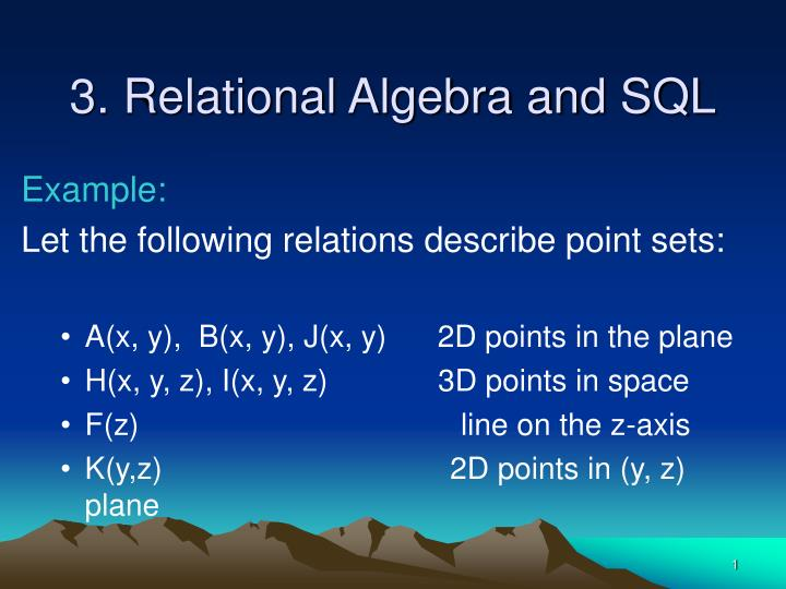 3 relational algebra and sql n.