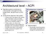 architectural level acpi