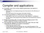 compiler and applications