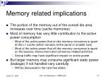 memory related implications