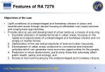 features of ra 7279