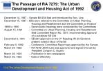 the passage of ra 7279 the urban development and housing act of 1992