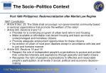 the socio politico context