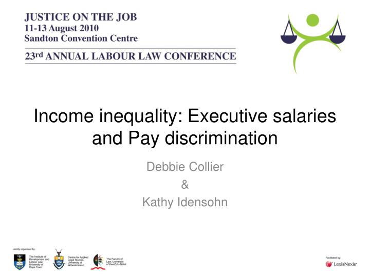income inequality executive salaries and pay discrimination n.