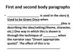 first and second body paragraphs