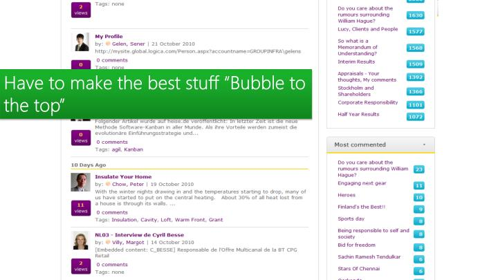 """Have to make the best stuff """"Bubble to the top"""""""
