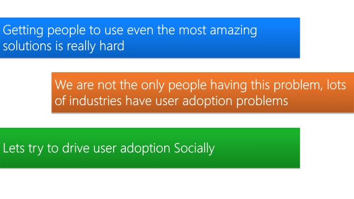 Getting people to use even the most amazing solutions is really hard