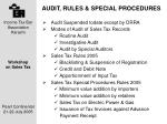audit rules special procedures
