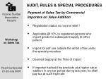 audit rules special procedures12