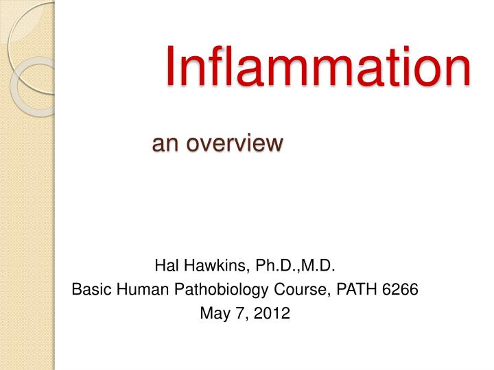 inflammation an overview n.