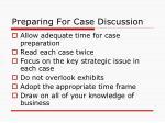 preparing for case discussion