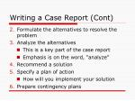 writing a case report cont