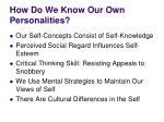 how do we know our own personalities