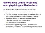 personality is linked to specific neurophysiological mechanisms