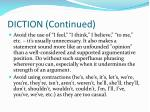 diction continued1