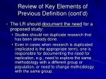 review of key elements of previous definition cont d3