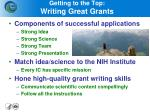 getting to the top writing great grants
