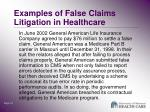 examples of false claims litigation in healthcare3