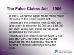the false claims act 19861