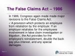 the false claims act 19862