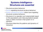 systems intelligence structures are essential