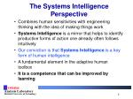 the systems intelligence perspective