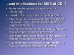 and implications for m e of cd