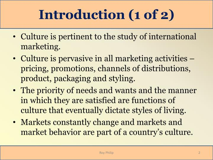 international marketing activities