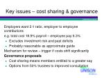 key issues cost sharing governance