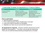 contracting teaming arrangements as a contract option