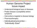 human genome project future impact