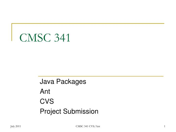 java packages ant cvs project submission n.