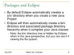 packages and eclipse