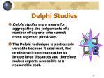 delphi studies
