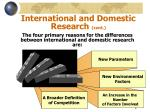 international and domestic research cont