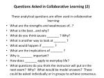 questions asked in collaborative learning 2