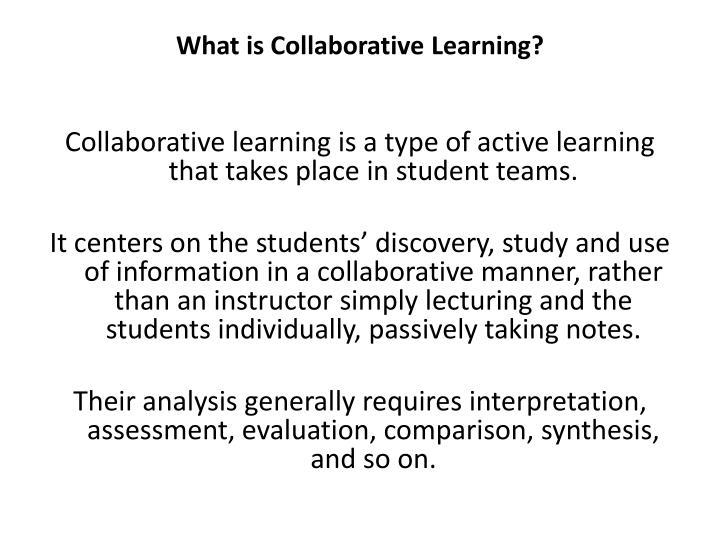 what is collaborative learning n.