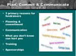 plan commit communicate