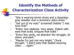 identify the methods of characterization class activity