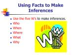 using facts to make inferences