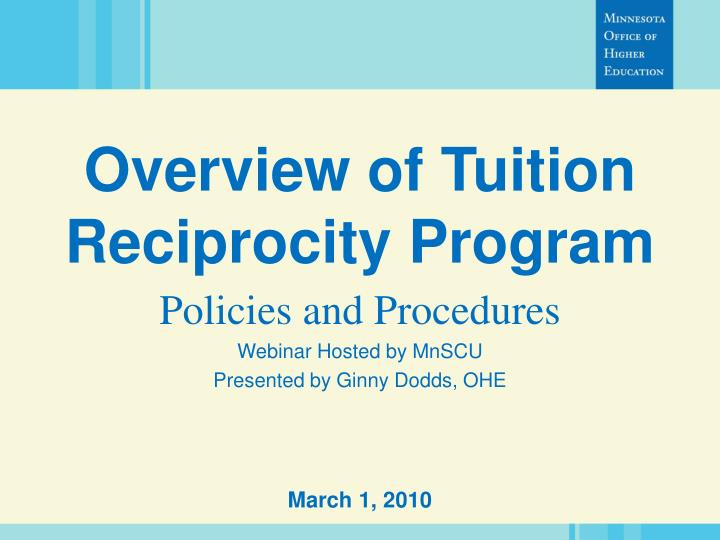 overview of tuition reciprocity program n.