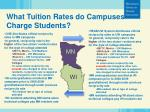 what tuition rates do campuses charge students