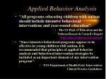 applied behavior analysis1