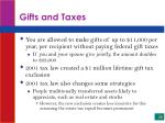 gifts and taxes