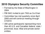 2010 olympics security committee